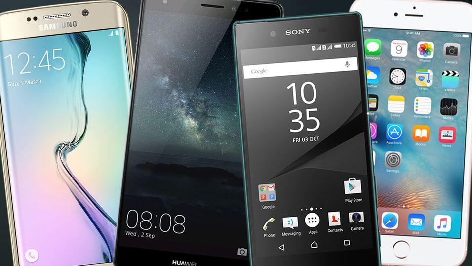 Toppmodeller fra Samsung, Huawei, Sony, Apple og LG er nominerte til Årets mobiltelefon.