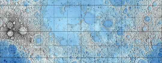 Slik ser det topografiske kartet ut. Dess mørkere farge, dess lavere punkt (og omvendt).