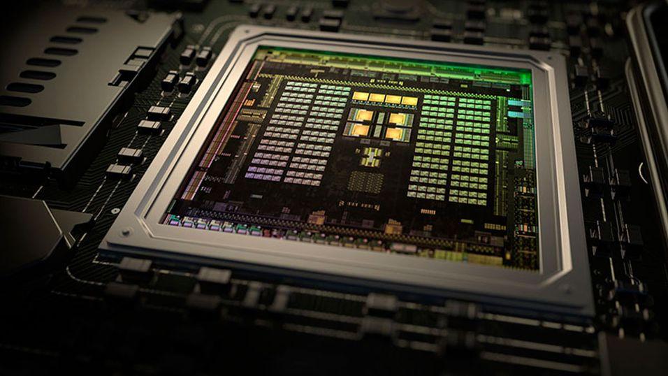 Google jobber muligens med en prosessor til deres bærbare datamaskiner. Her avbildet er Nvidias Tegra X1-prosessor.