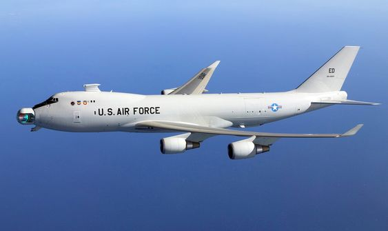 Yal 1A AIrborne Laser Aircraft conducts initial ball rotation tests at Western Test Range