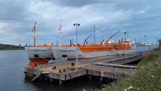Yara bygget om bulkskip til CO2-frakt