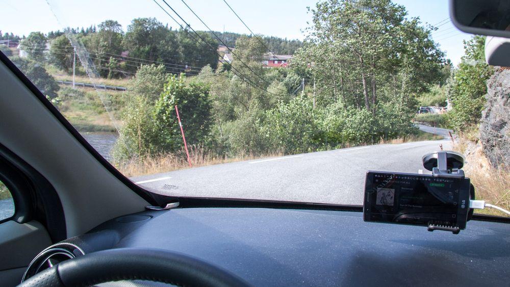 Svingete bakveier på testruten vår. Foto: Marius Valle