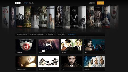 HBO Nordic har mange gode egenproduksjoner og fulle sesonger av TV-serier, men tilbyr få filmer.