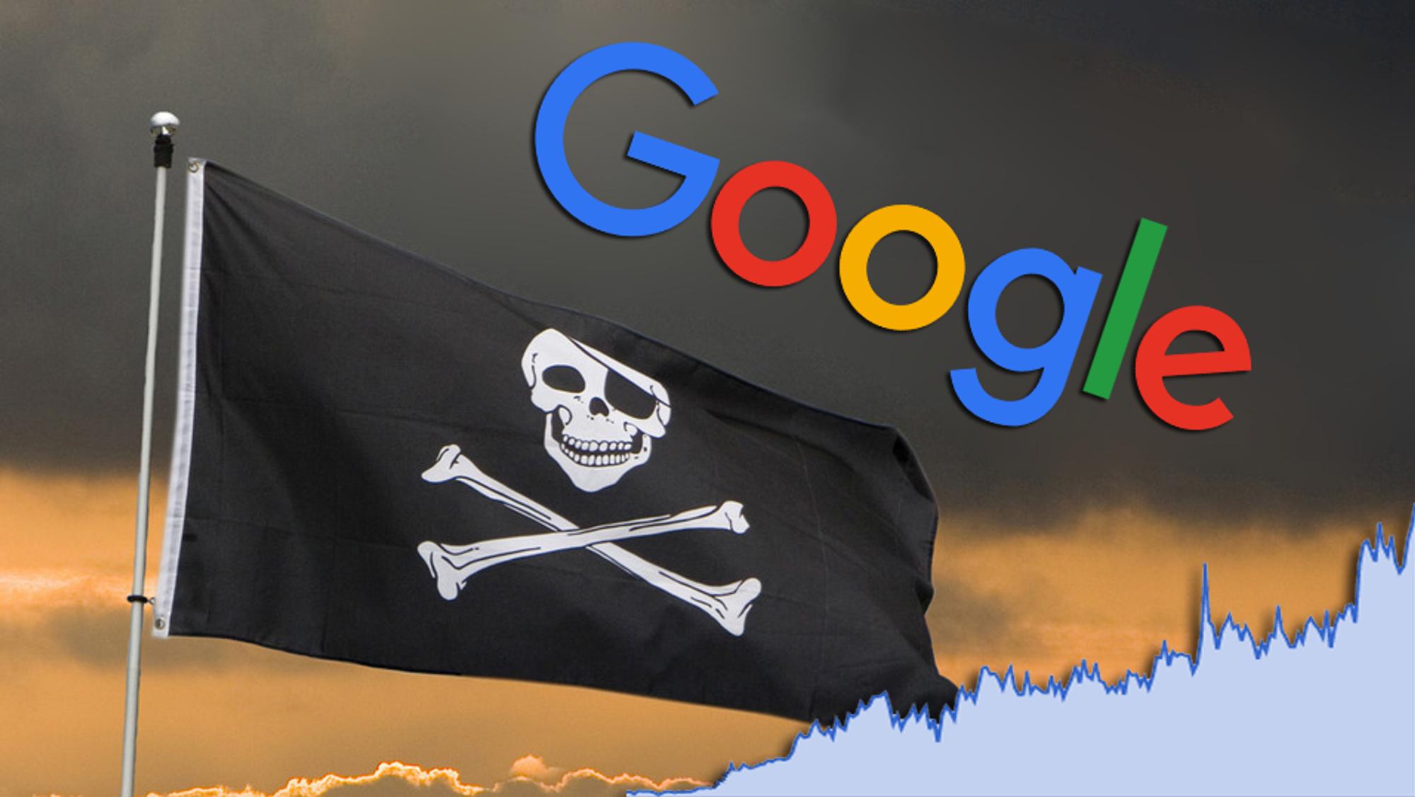Google fjerner piratlenker som aldri før