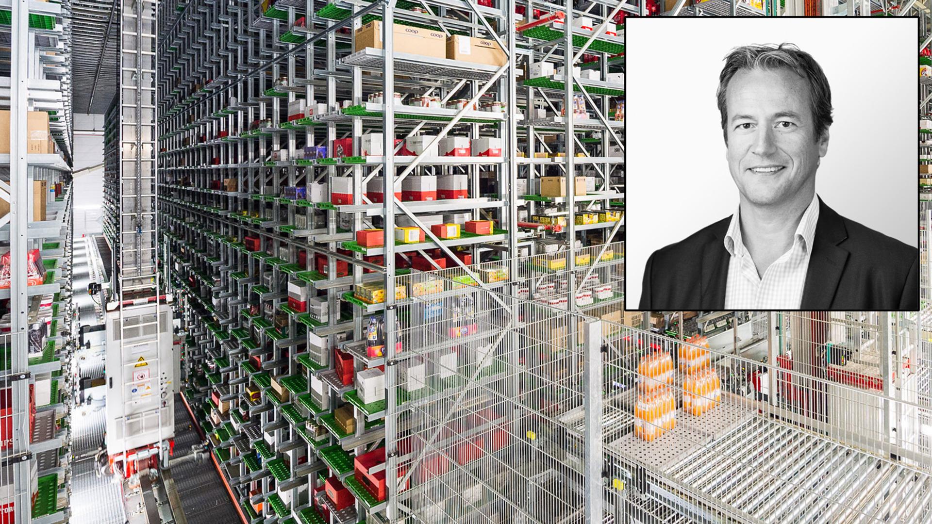 Ny utfordring: Dette lageret er i Møller Eiendoms portefølje, og kan bli neste utfordring for energisparingsprogrammet. Nå er innsatsen som driftsdirektør Øyvind Hartveit satte i gang kandidat til LOS Energy Awards.