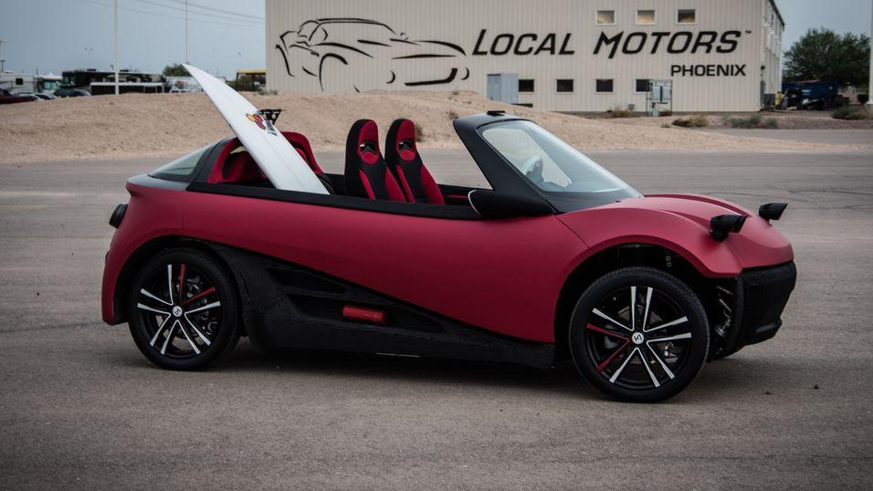 Den 3D-skrevne bilen LM3D Swim.