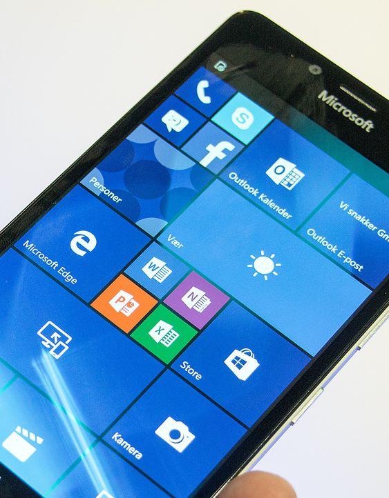 Slik ser Windows 10 ut på Lumia 950.