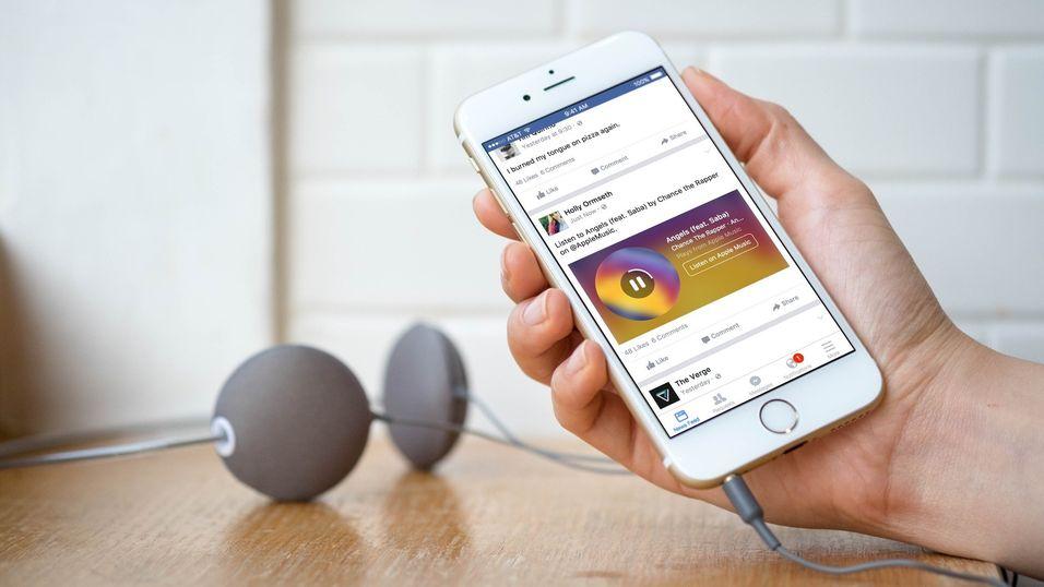 Snart kan du enkelt dele musikk fra Spotify på Facebook