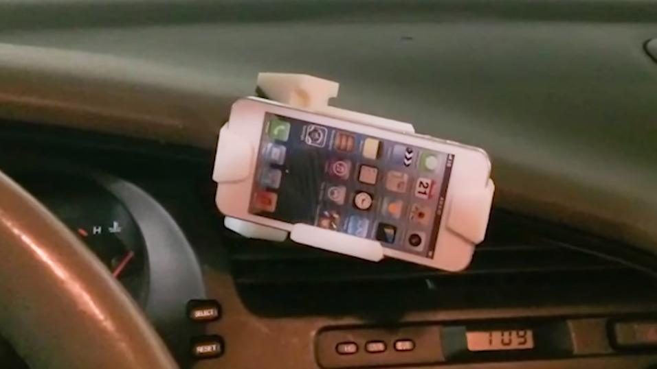 Teknologien kan blant annet brukes til å lage slike mobilholdere til bilen, men også en rekke andre ting.
