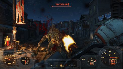 Kampen mot en Deathclaw er litt mer rettferdig når du er utstyrt med Power Armor og minigun.