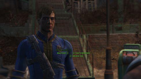Gjennom dialog kan du utforske hvilken type person du vil være i Fallout 4.