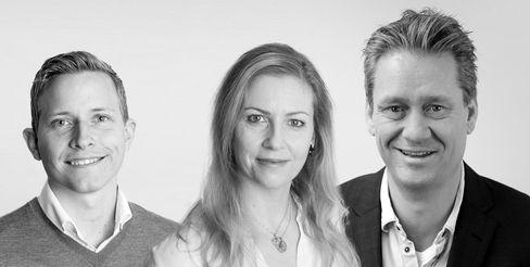 TEAMET: Fra venstre har du Øystein, Ingela og Terje. I tillegg holder vi på å ansette en ny selger.