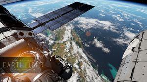 Romstasjonen ISS svever i bane 400 kilometer over jorda.