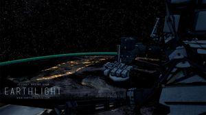 Utsikten fra ISS-stasjonen om natta.