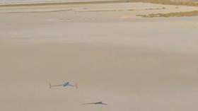 Den nye dronen har en fart på 240 kilometer i timen.