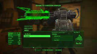 Minigun som kverner fiendene til suppe om de kommer for nærme.