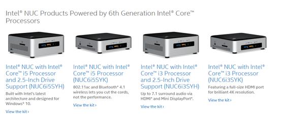 Alle de fire nye Skylake-maskinene fra Intel.