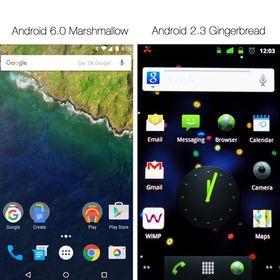5 år med innovasjon skiller disse to Android-versjonene.