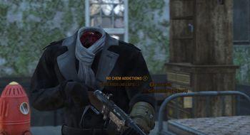 En Deathclaw rev hodet av denne Fallout 4-spilleren, men han lever i beste velgående
