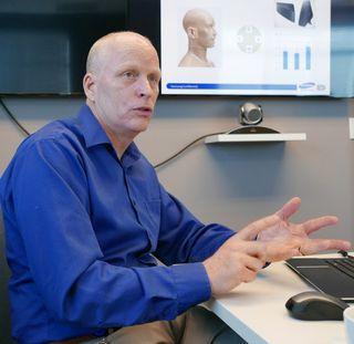 Allan Devantier er sjef for Samsungs nye lydlabb i Santa Clarita.