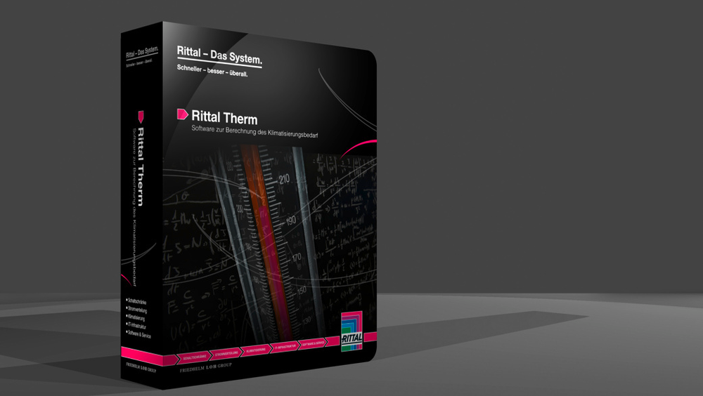 Med programvaren RiTherm 6.3 kan kjøling eller oppvarming av en kapsling, dimensjoneres på en energieffektiv måte.