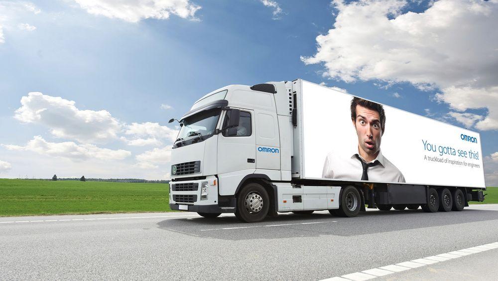 Denne er spesialdesignet for å bringe Omrons produkter og løsninger landet rundt i et roadshow.