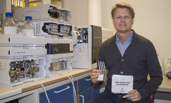 Smart helse: Thomas Erik Gundersen i Vitas opplever en kraftig vekst i selvbetjeneingsmarkedet for blodprøver.