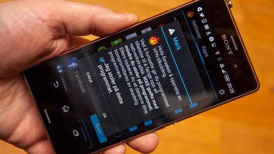 På Android kan apper enkeltvis koble seg opp via VPN.
