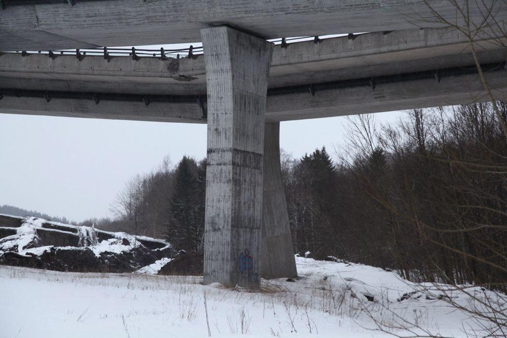 Fundamentet under Skjeggestadbrua kollapset etter et jordras mandag ettermiddag.