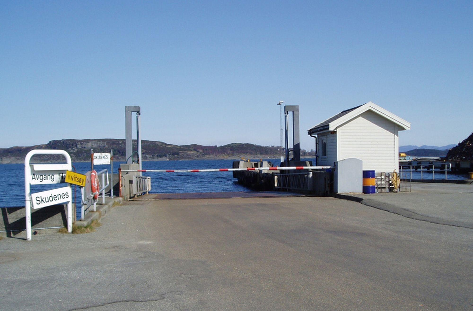 Denne fergebåsen skal bygges om for å ta unna trafikken over Boknafjorden når værforholdene gjør det umulig å anløpe Mortavika fergeleie.