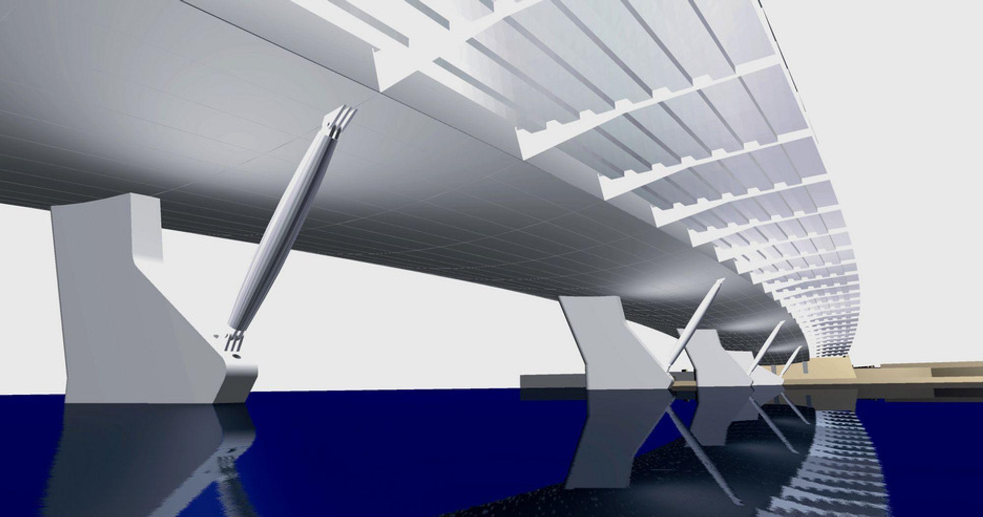 «Bøy» var et dristig utkast til arkitektkonkurransen. Mer enn 7 år etter at BFS Arkitekter vant, har brua gått ut på anbud.