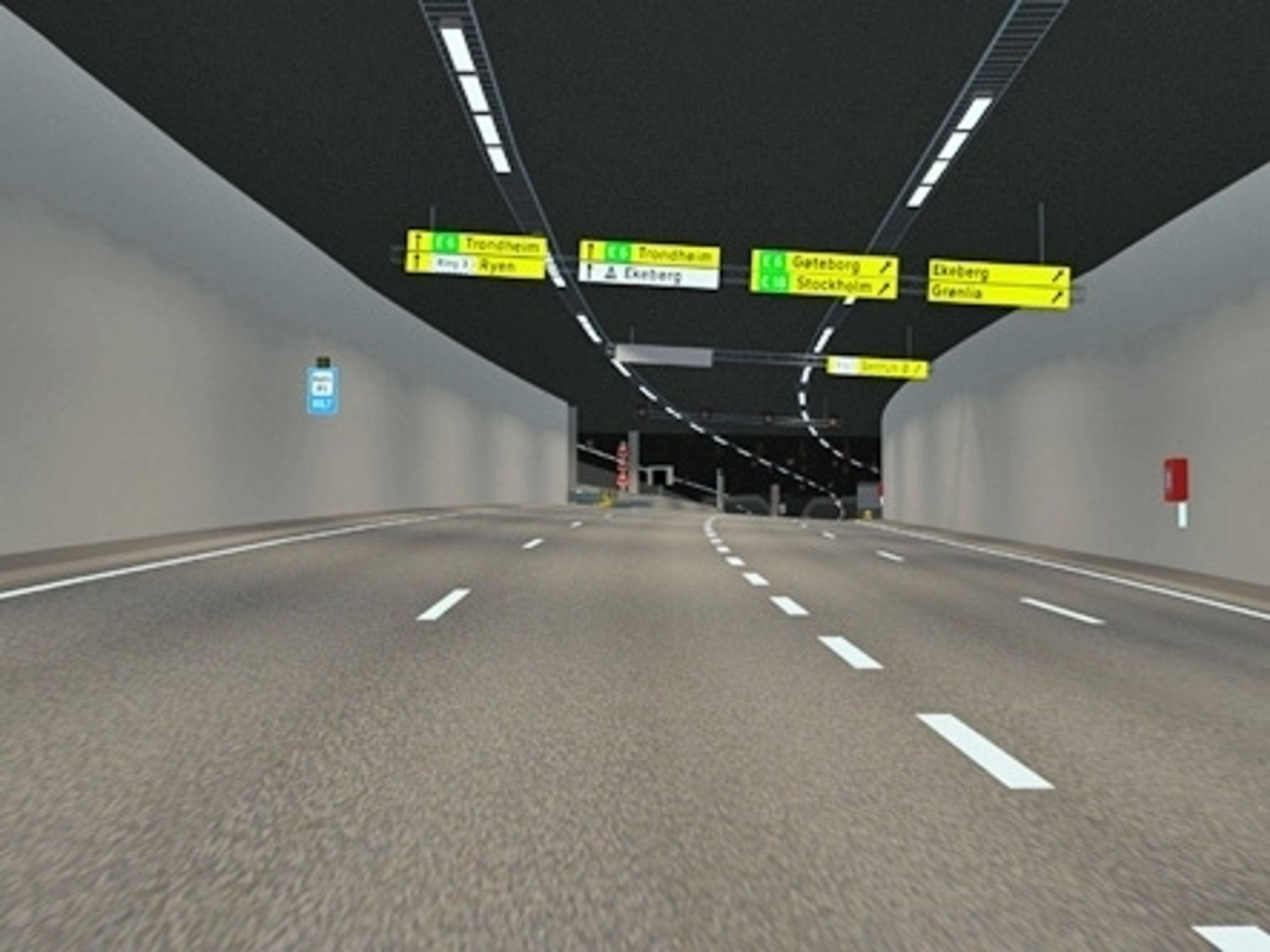 Bravida skal utføre det elektrotekniske arbeidet i Bjørvikatunnelen. Kontrakten omfatter også arbeid i Grønliatunnelen, som inngår i det samme prosjektet. (Ill.: Statens vegvesen)