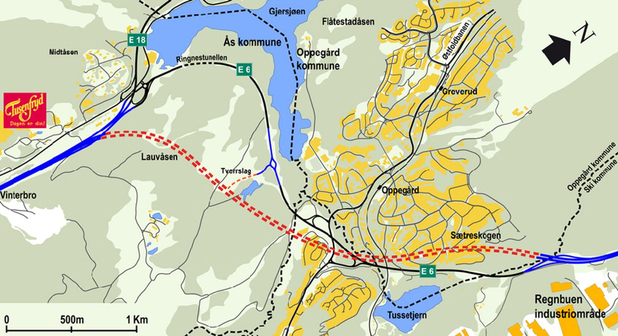De som vil levere utstyr for videoovervåkning og hendelsesdetektering i Nøstvettunnelen på E 6 sør for Oslo, må levere anbud innen 6. november. (Ill.: Statens vegvesen)