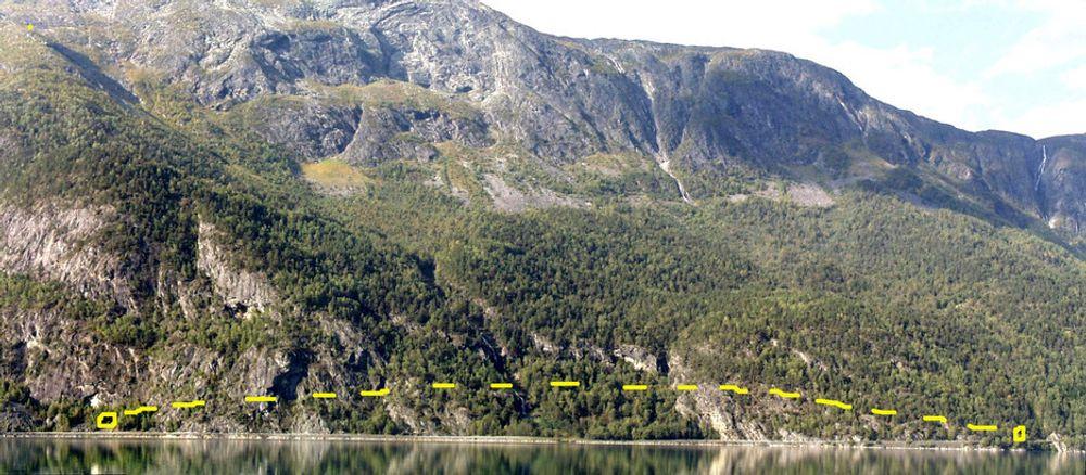 Gullringen tunnel er markert med gul stiplet linje. De som vil drive den må gi anbud før oktober er omme. (Foto: Svein Helge Frækaland, Statens vegvesen)