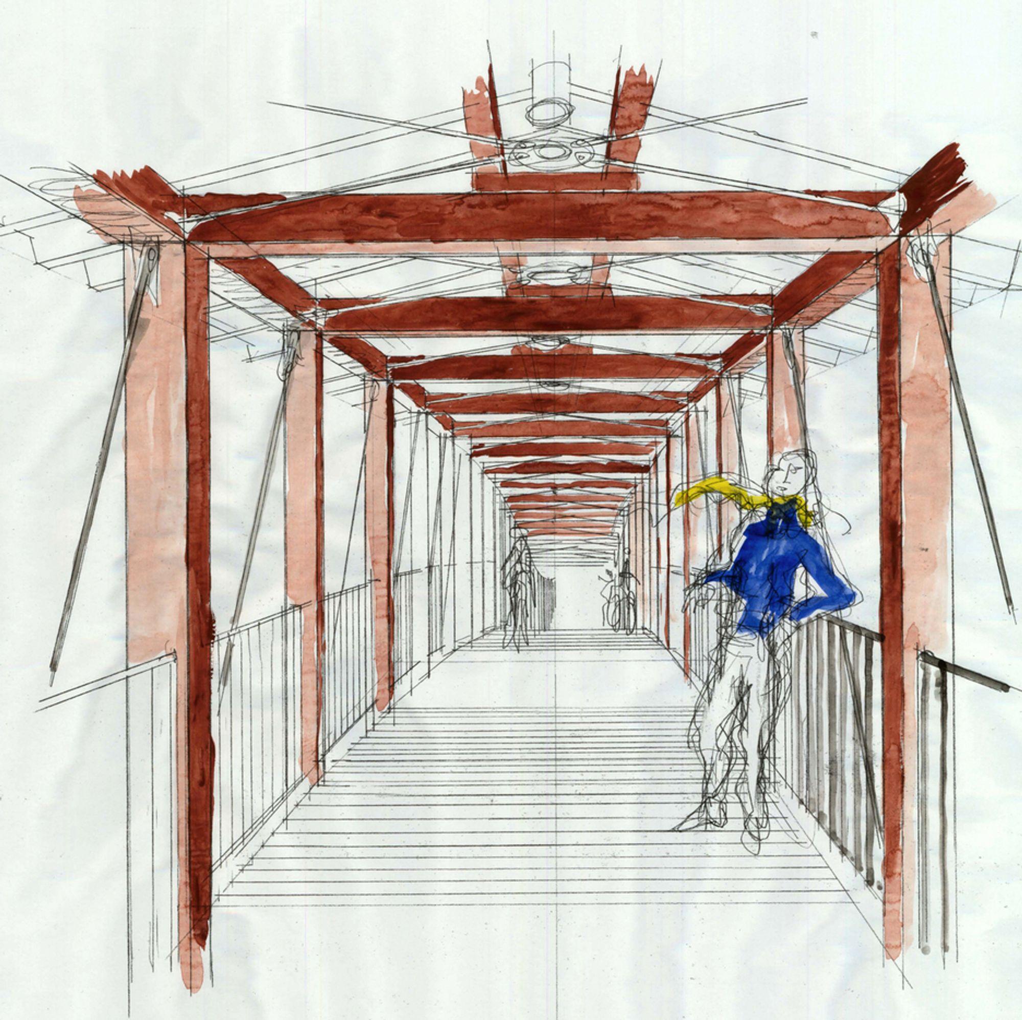 Denne brua er et resultat av samarbeid mellom Arne Eggen Arkitekter AS og Sivilingeniørene Haug og Blom-Bakke AS. Brua skal stå ferdig 1. juni neste år.