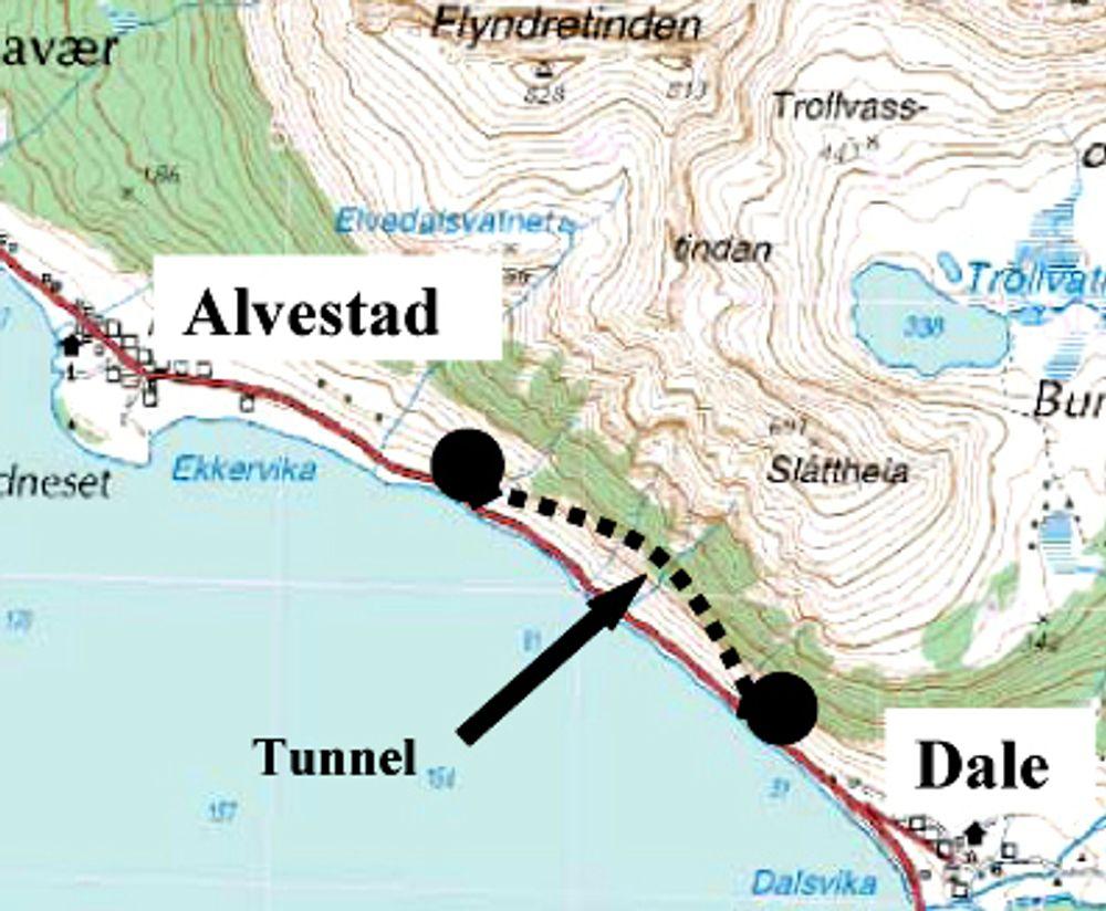 Leonhard Nilsen & Sønner ligger godt an til å få kontrakten på driving av Liantunnelen (Ill.: Statens vegvesen)