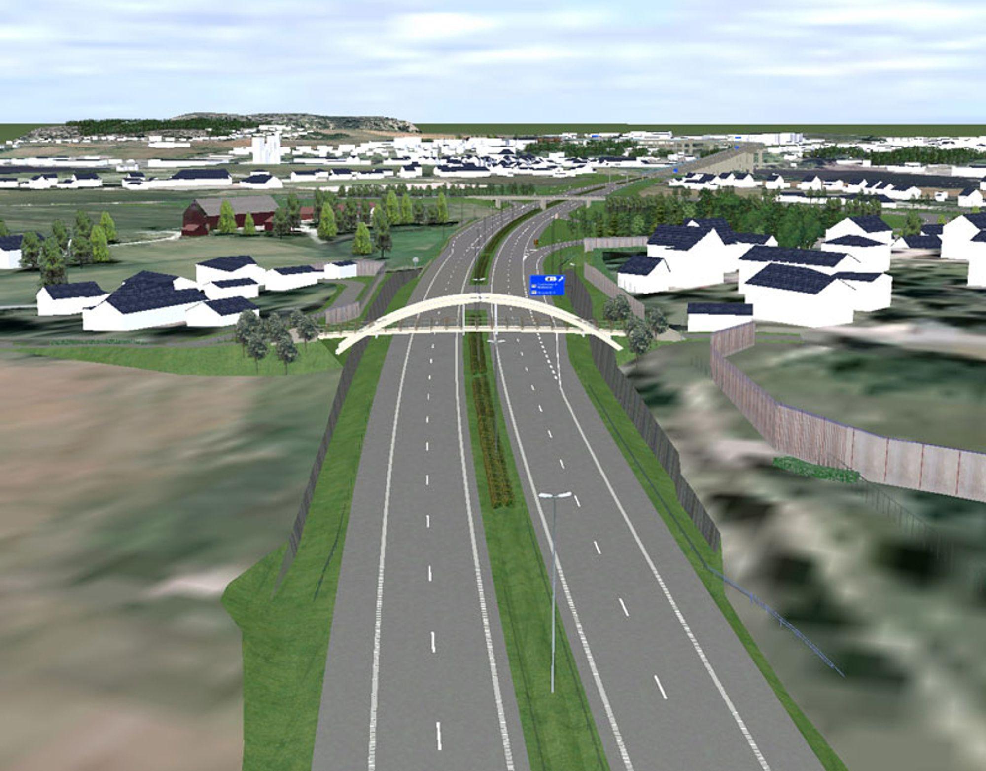 E6 i Østfold:              15 km ny motorveg delåpnes allerede nå