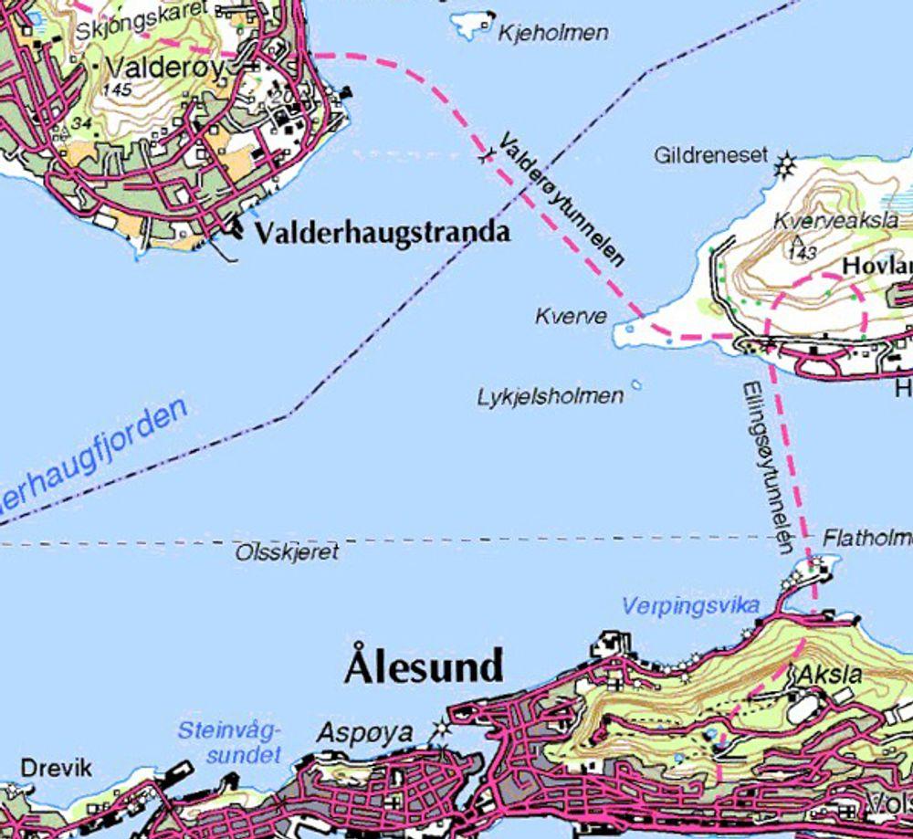 Ellingsøy- og Valderøytunnelen vil bli stengt om nettene fra september i år. Når det gjenåpnes for trafikk hele døgnet i oktober neste år, har de omsider fått en standard som tilfredsstiller tidens krav. (Ill.: Statens vegvesen).