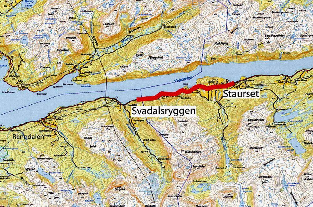 Innen 14. mai må entreprenørene bestemme seg for hvor mye de vil ha for å utbedre E 39 mellom Svadalsryggen og Staurset. To år og 46 dager senere skal jobben være gjort. (Ill.: Statens vegvesen)