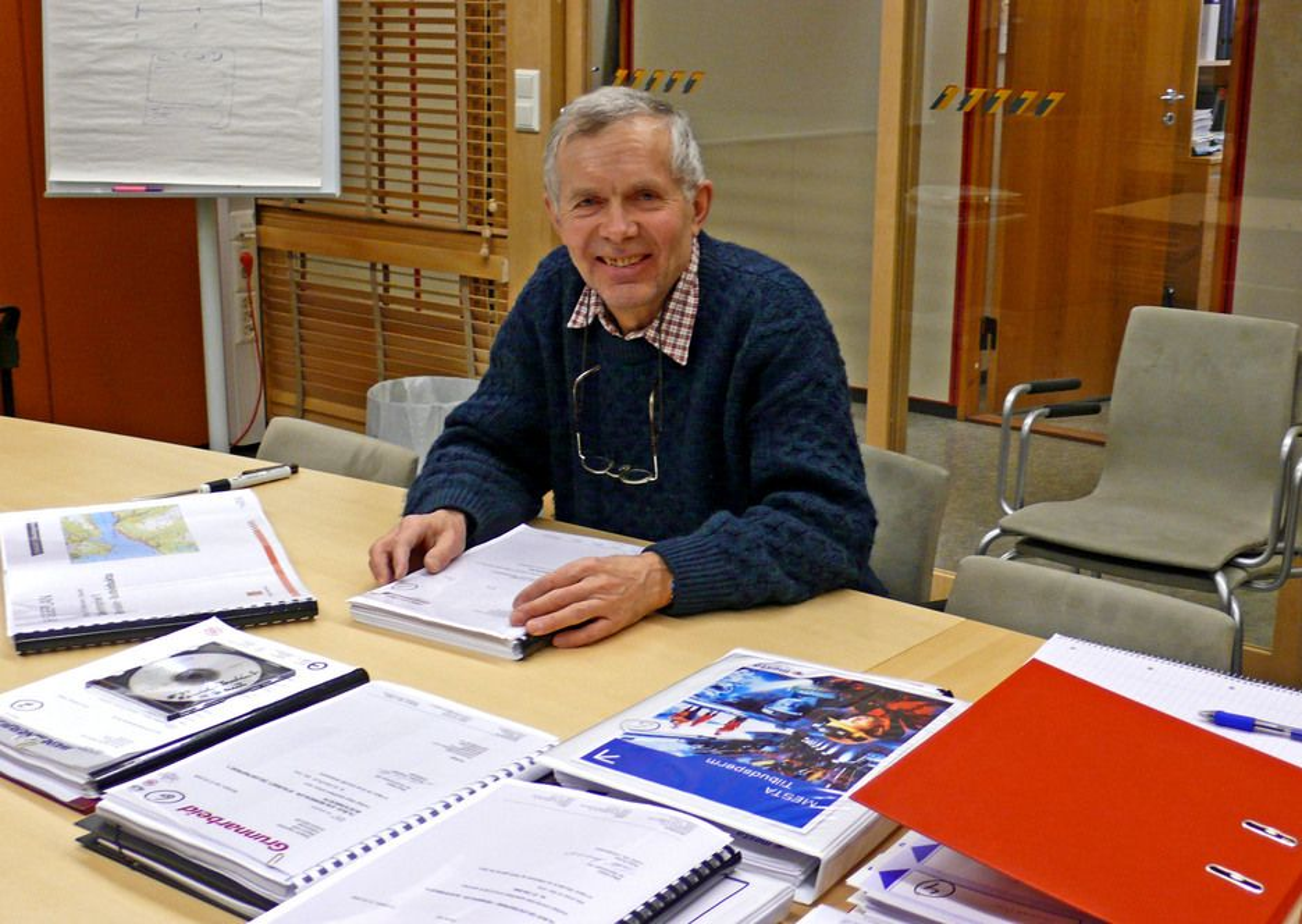 Byggeleder Leif Husby i Region Midt er godt fornøyd med resultatet av anbudskonkurransen om første entreprise på utbedringen av E 39 mellom Renndalen og Staurset. (Foto: Reidun Øverland, Statens vegvesen)