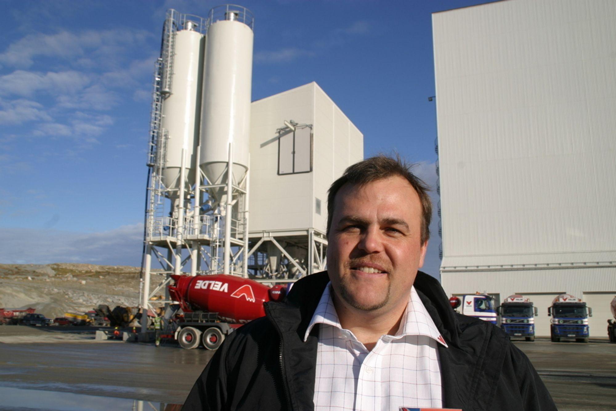 - Dette er Europas største anlegg basert på helknust tilslag, sier Veldes nyansatte produksjonssjef for tilslag, Sven-Henrik Norman.