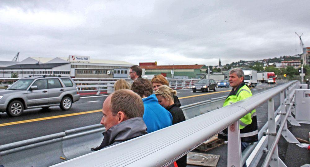 Pirbrua ble tatt i bruk 10. juli. Foreløpig er ikke trafikken så stor, men når Nordre avlastningsveg og Strindheimtunnelen blir ferdig, øker trafikken kraftig.
