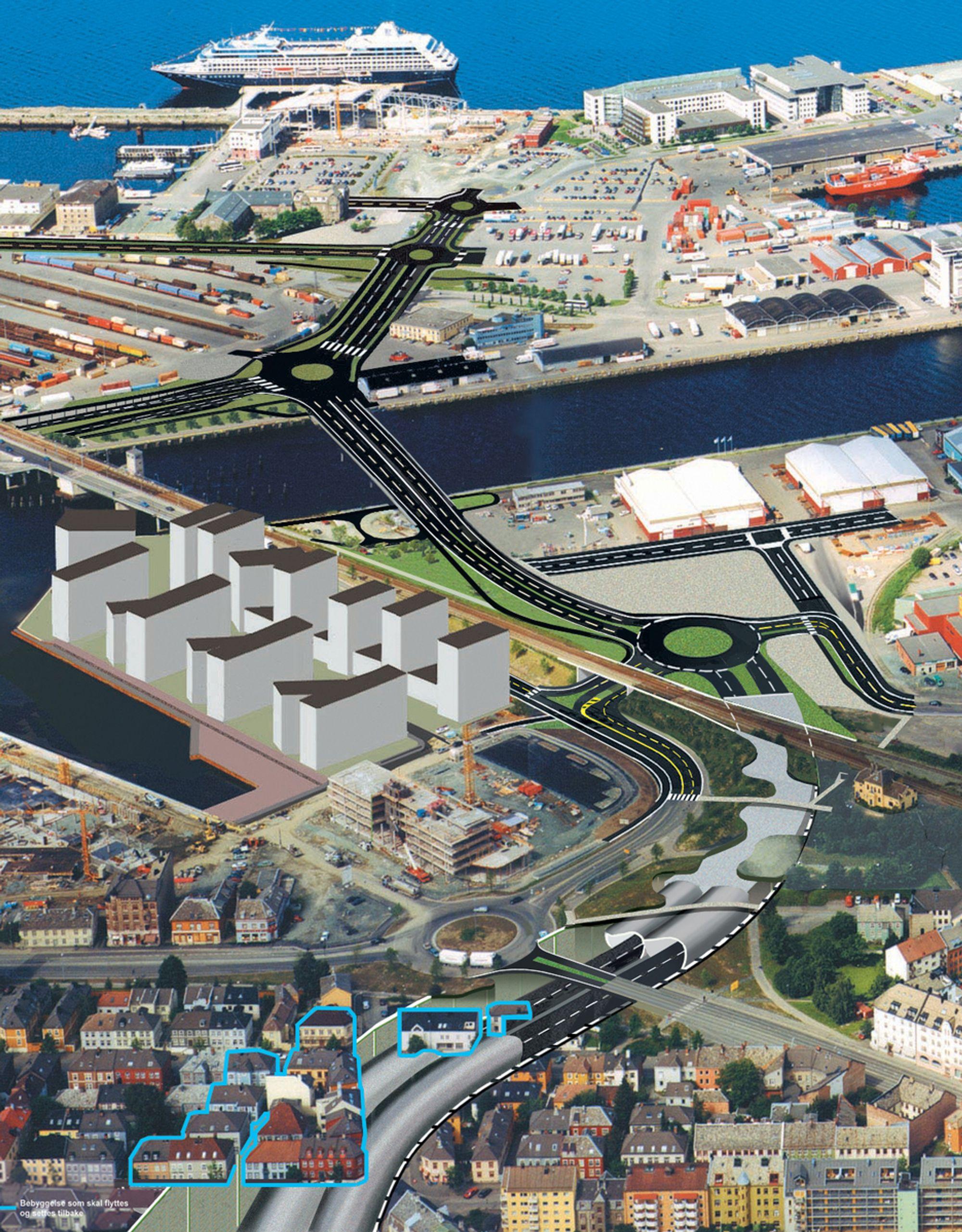 Løsmassetunnelen i vestre ende av Strindheimtunnelen blir en svært krevende oppgave. Vegvesenet har fått tre påmeldinger til konkurransepreget dialog om dette prosjektet. (Ill.: Statens vegvesen)