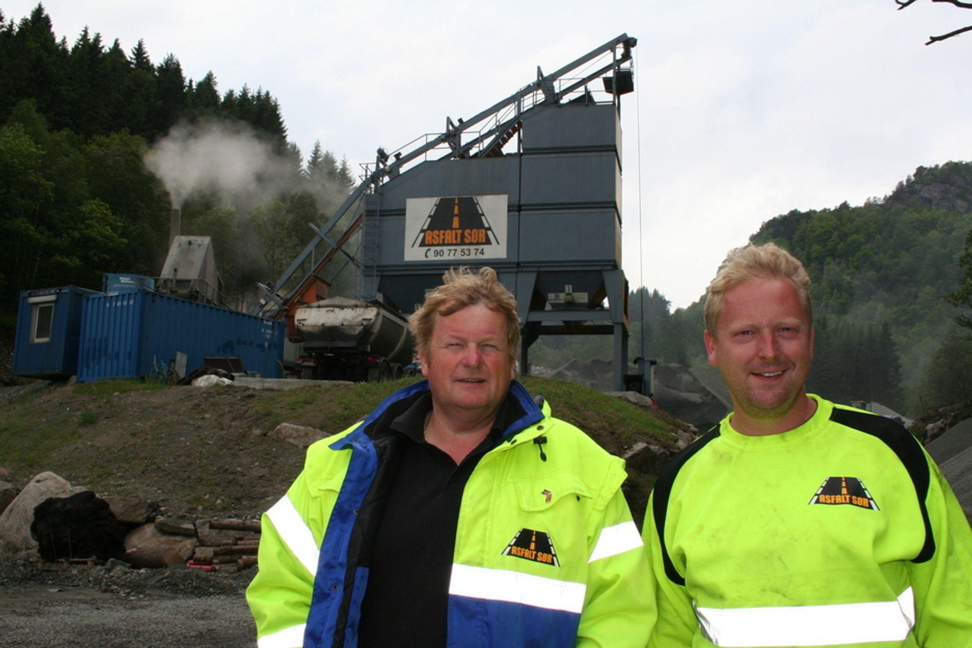 Ludvig Hunsbedt (t.v.) og Per Erik Røgenes i Asfalt Sør AS tar avgjørelsen fra Konkurransetilsynet med fatning.