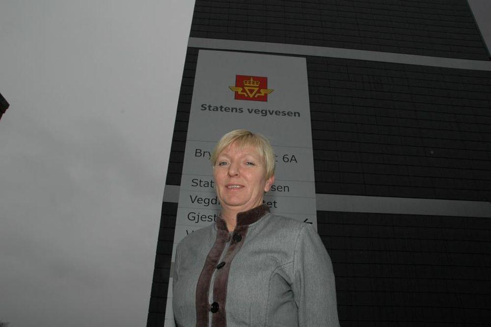 Hovedtillitsvalgt for NITO-medlemmene i Statens vegvesen, Siw Tyldum.