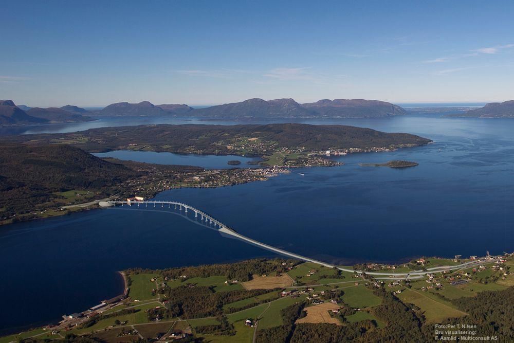 Tresfjordbrua kommer ikke før 2012