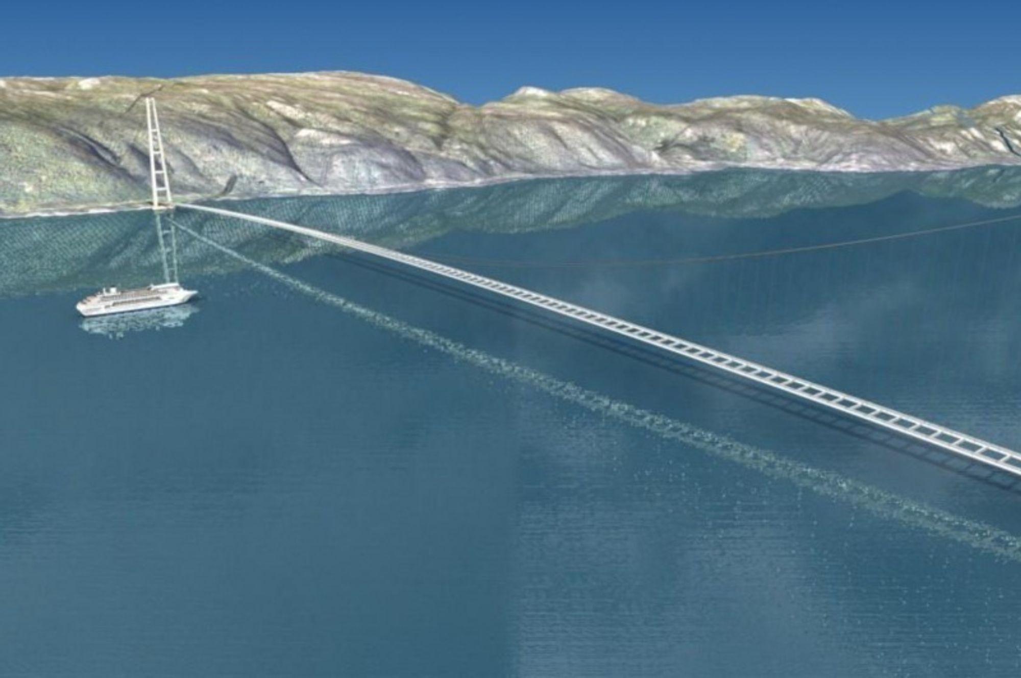 Utreder verdens lengste hengebru over Sognefjorden