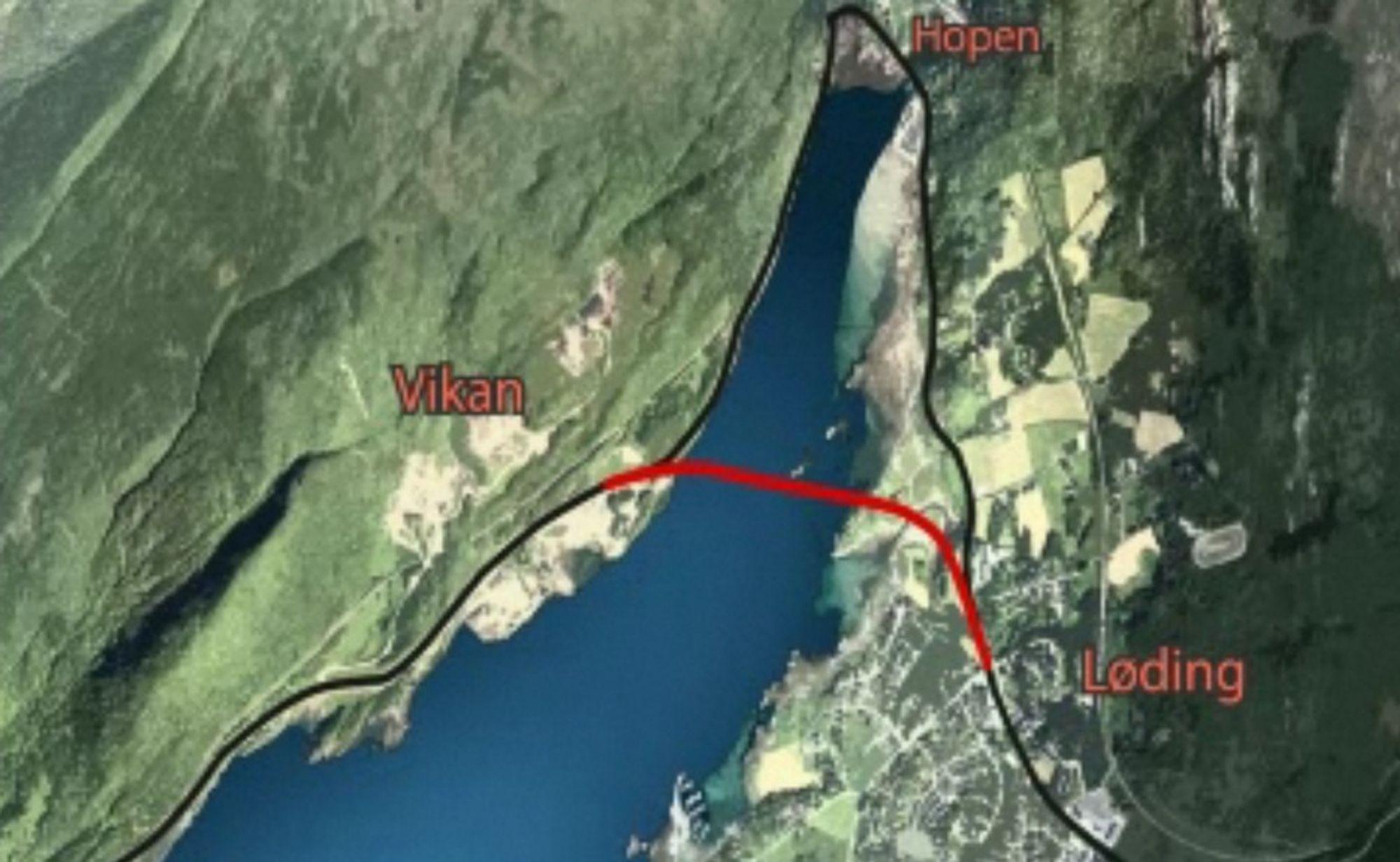 Klarsignal for riksveg 80 mellom Løding og Vikan