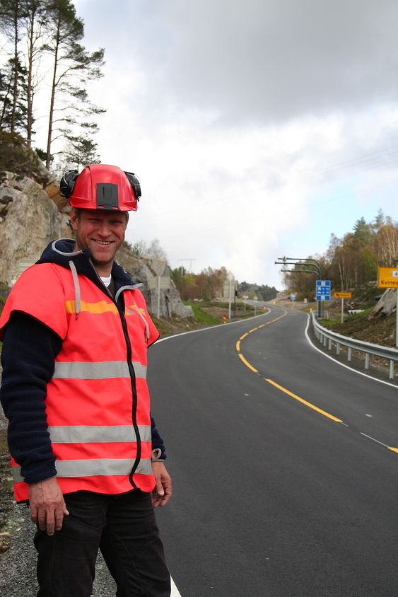 Byggeleder i Statens Vegvesen Bjørn Ivar Nedrejord har jobbet med fv 465 siden 2008. Nå avslutter han siste Listerpakkens siste prosjekt på vegen.