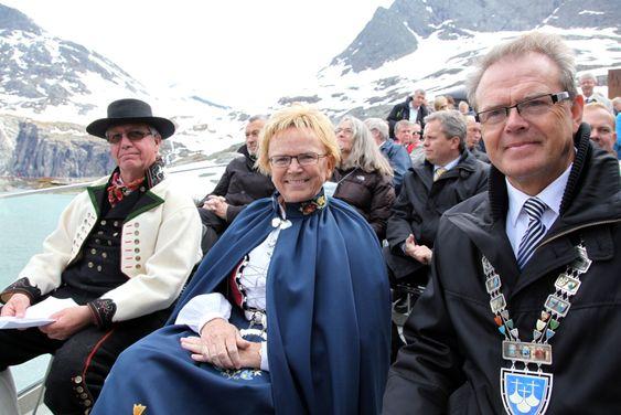 Magnhild Meltveit Kleppas siste offisielle oppdrag som samferdselsminister var å åpne Trollstigplatået i Møre og Romsdal på lørdag. Foto: Kjell Herskedal